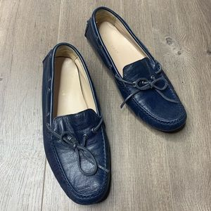 COLE HAAN | Blue Leather Driving Tie Loafer